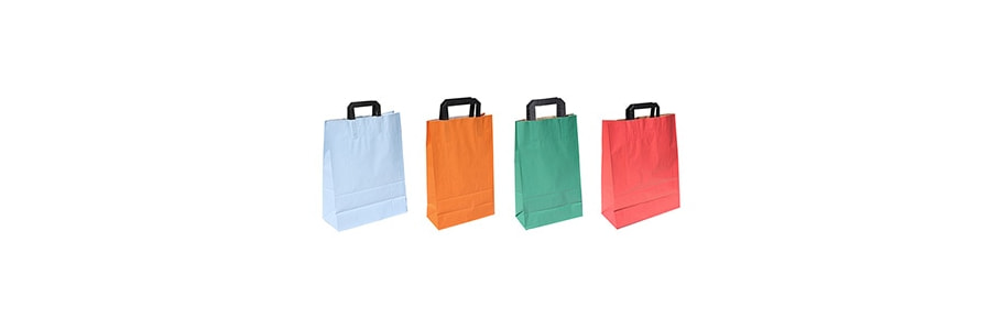 Papiertragtaschen Topkraft uni