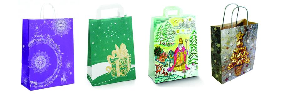 Papiertragtaschen Weihnachten