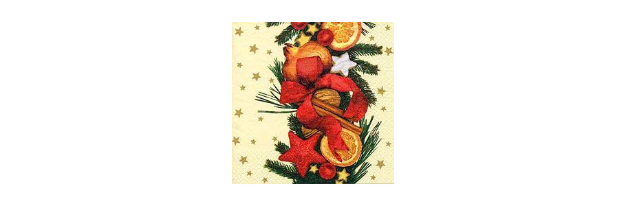 Servietten Detailpack Weihnachten