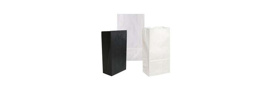 Kreuz- und Klotzbodenbeutel Papier